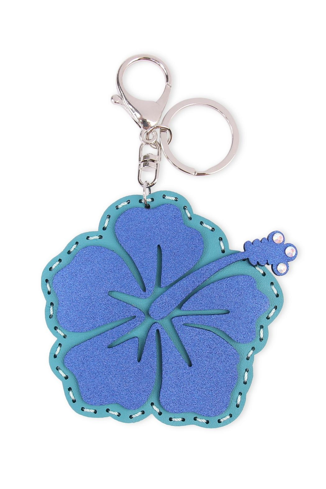Riah Fashion Flower Coin Purse Keychain - Main Image