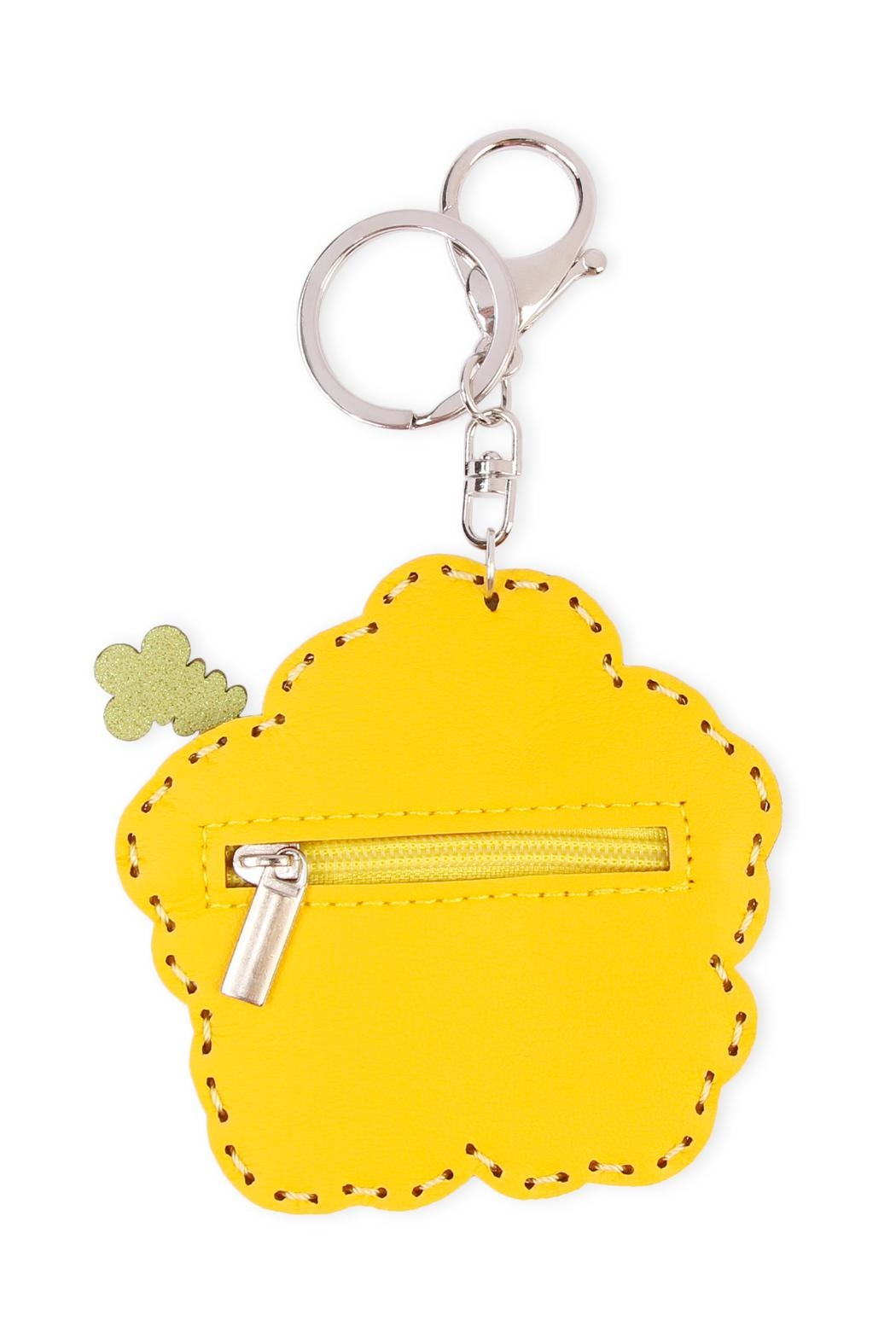 Riah Fashion Flower Coin Purse Keychain - Front Full Image