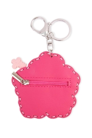 Riah Fashion Flower Coin Purse Keychain - Front full body