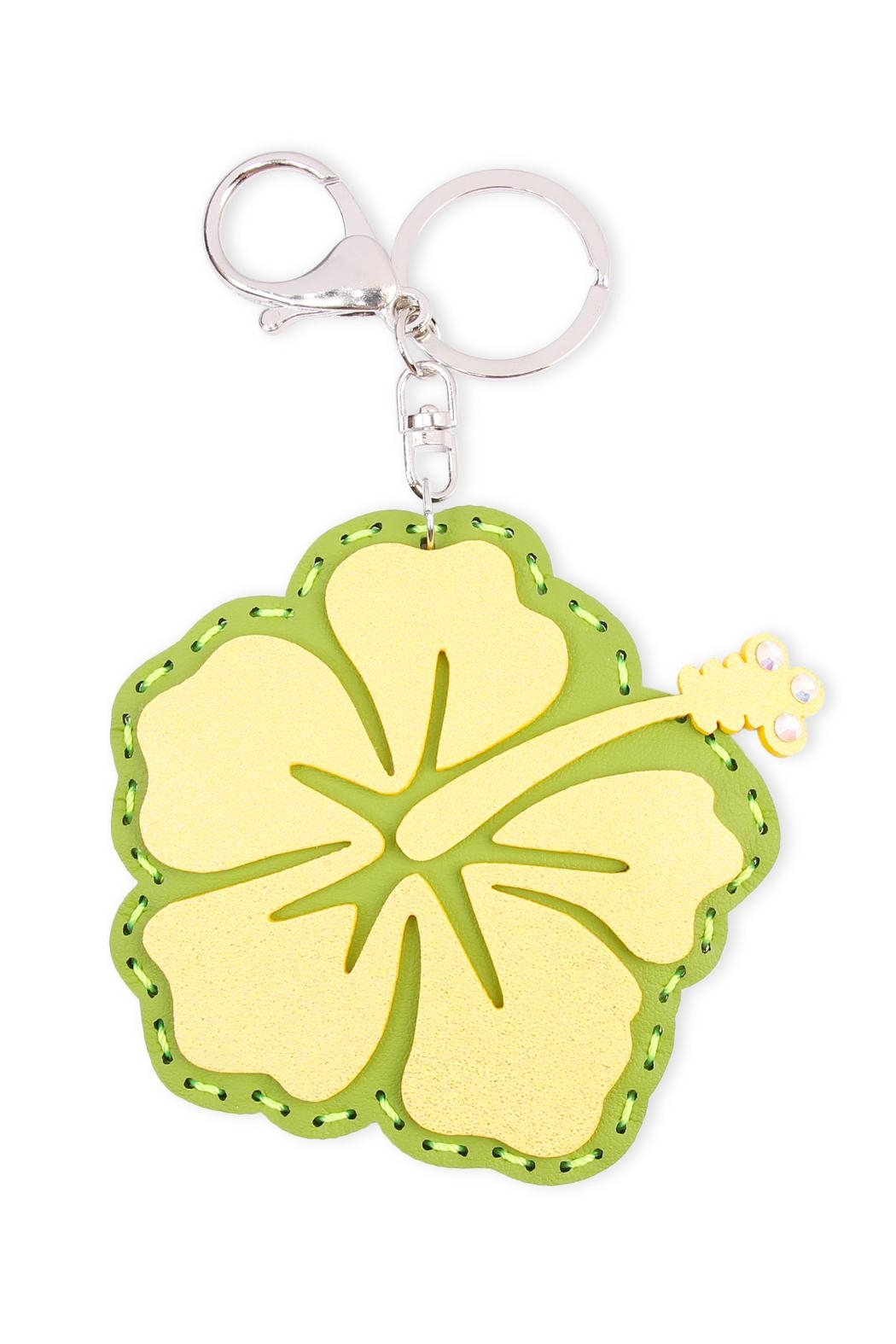 Riah Fashion Flower Coin Purse Keychain - Front Cropped Image