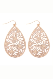 Riah Fashion Flower-Filigree-Earrings - Front cropped