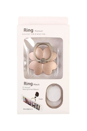 Riah Fashion Flower Phone Ring-Holder - Front cropped