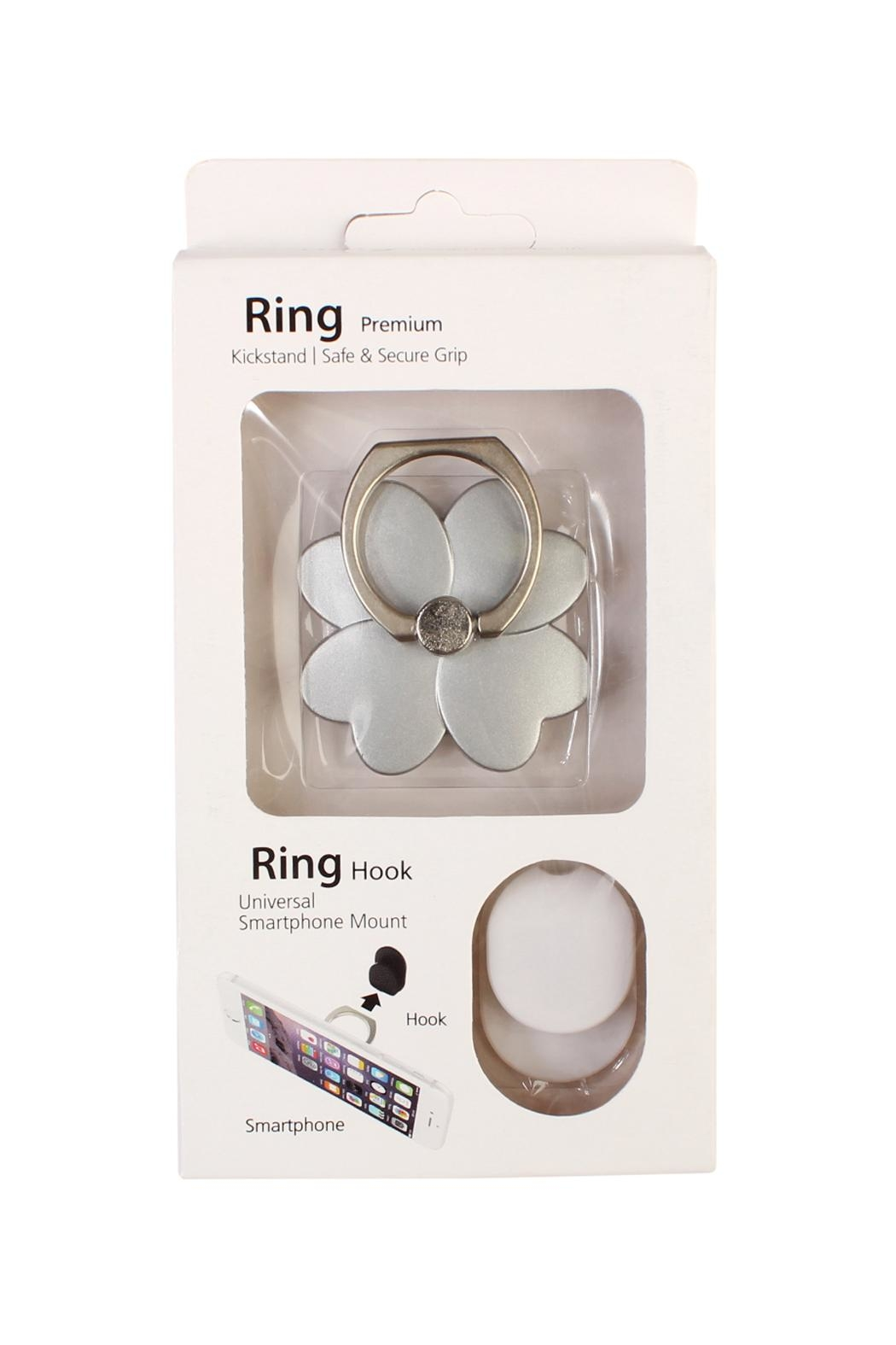 Riah Fashion Flower Phone Ring-Holder - Front Cropped Image
