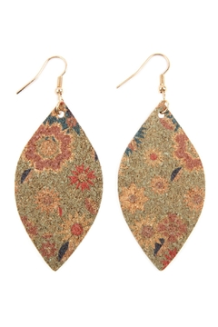 Shoptiques Product: Flower Print Cork Marquise_earrings