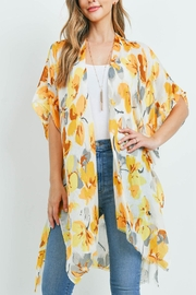 Riah Fashion Flower Print Kimono - Product Mini Image