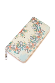 Riah Fashion Yellow Printed Wallet - Front cropped