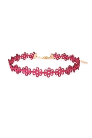 Riah Fashion Flower Suede Choker - Product Mini Image