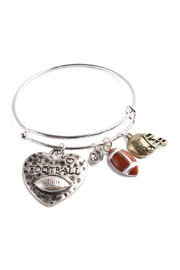 Riah Fashion Football Charm Bracelet - Front cropped