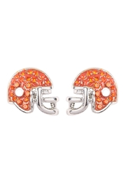 Riah Fashion Football Helmet Epoxy-Earrings - Product Mini Image