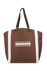 Riah Fashion Football Leather Tote Bag - Product Mini Image