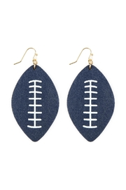 Riah Fashion Football-Sports-Leather-Earrings - Front full body