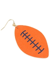 Riah Fashion Football-Sports-Leather-Earrings - Front cropped