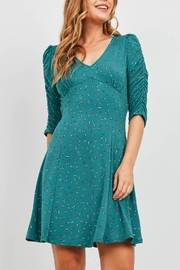 Riah Fashion Forest Green Dress - Product Mini Image