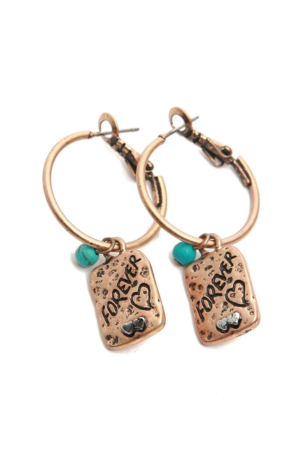 Riah Fashion Forever Hoop Earrings - Front Cropped Image