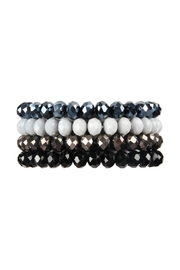 Riah Fashion Four Line-Crystal Beads-Stretch-Bracelet - Product Mini Image