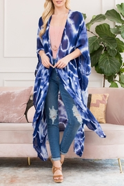 Riah Fashion Fractal Printed-Ankle Length-Kimono - Product Mini Image