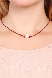 Riah Fashion Fresh Pearl Necklace - Front full body
