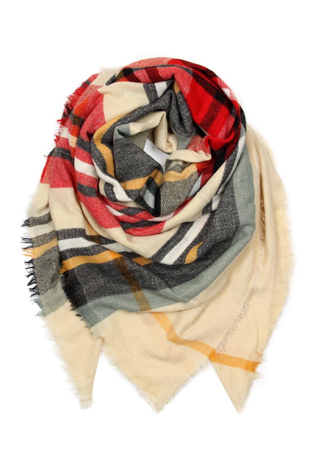Riah Fashion Fringe Blanket Scarf - Main Image