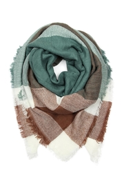 Riah Fashion Fringe Blanket Scarf - Front cropped
