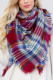 Riah Fashion Fringe Blanket Scarf - Side cropped
