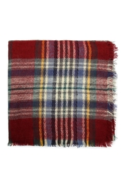 Riah Fashion Fringe Blanket Scarf - Front full body