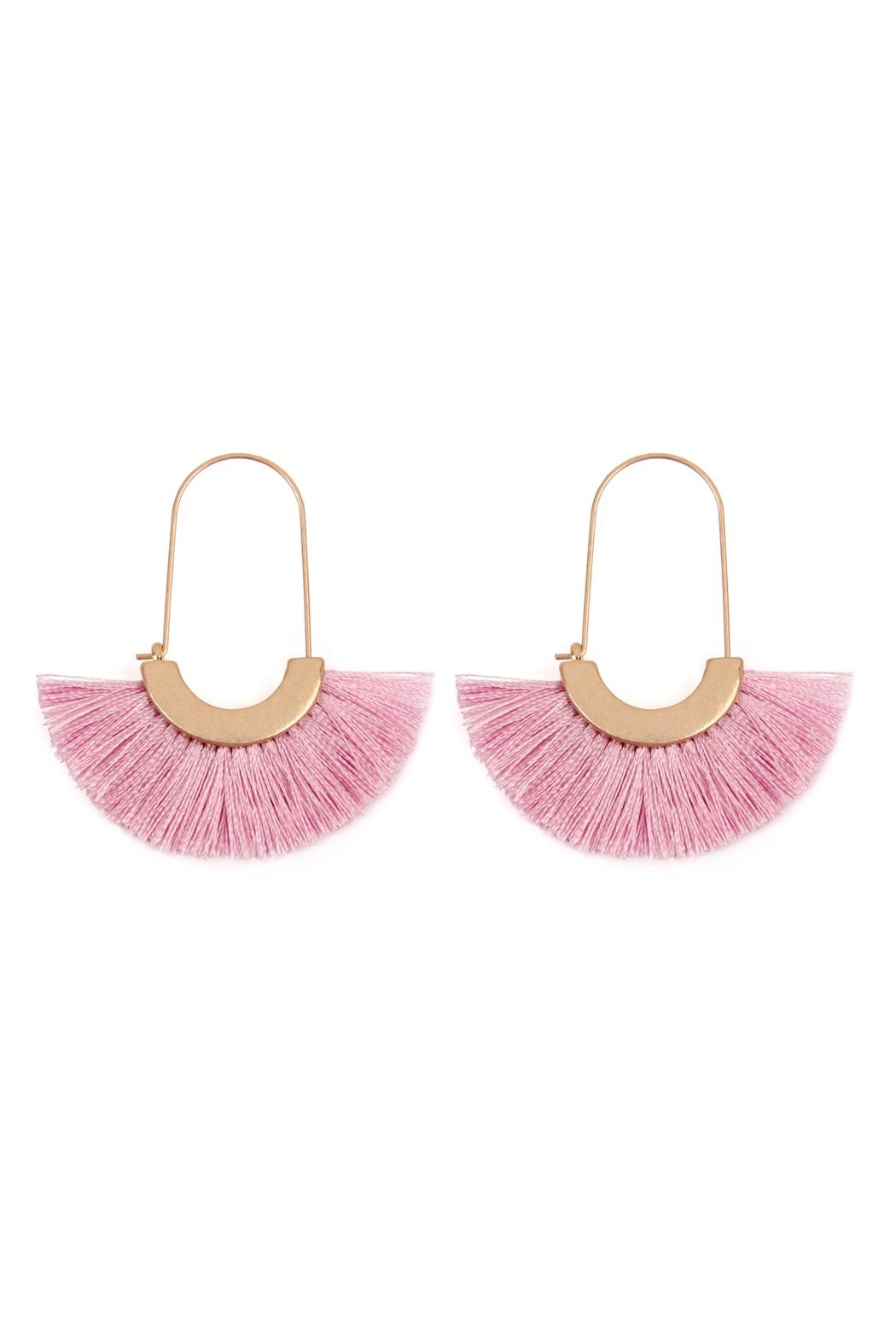 Riah Fashion Fringed Fan Shape-Earrings - Main Image