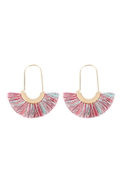 Riah Fashion Fringed Fan Shape-Earrings - Front cropped