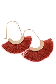 Riah Fashion Fringed Fan Shape-Earrings - Back cropped