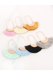Riah Fashion Fringed Fan Shape-Earrings - Side cropped