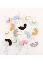 Riah Fashion Fringed Fan Shape-Earrings - Front full body
