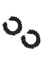 Riah Fashion Fringed Thread-Post Hoop-Earrings - Product Mini Image