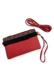 Riah Fashion Fringed Wrist Strap Bag - Product Mini Image