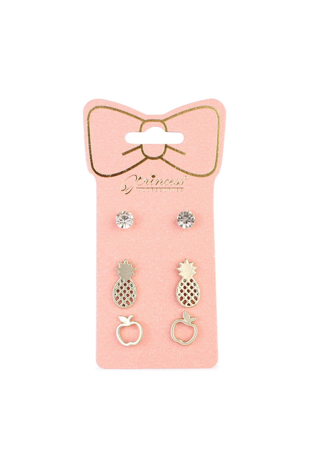Riah Fashion Fruits 3-Pair Earring-Set - Main Image