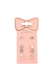 Riah Fashion Fruits 3-Pair Earring-Set - Product Mini Image