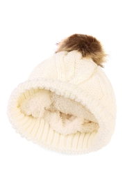 Riah Fashion Fuzzy Pom Pom Beanie - Front full body