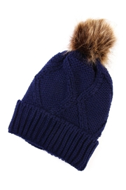 Riah Fashion Fuzzy Pom Pom Beanie - Product Mini Image