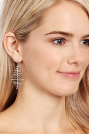 Riah Fashion Geo Bar Earrings - Front full body