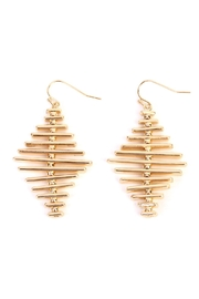 Riah Fashion Geo Bar Earrings - Front cropped