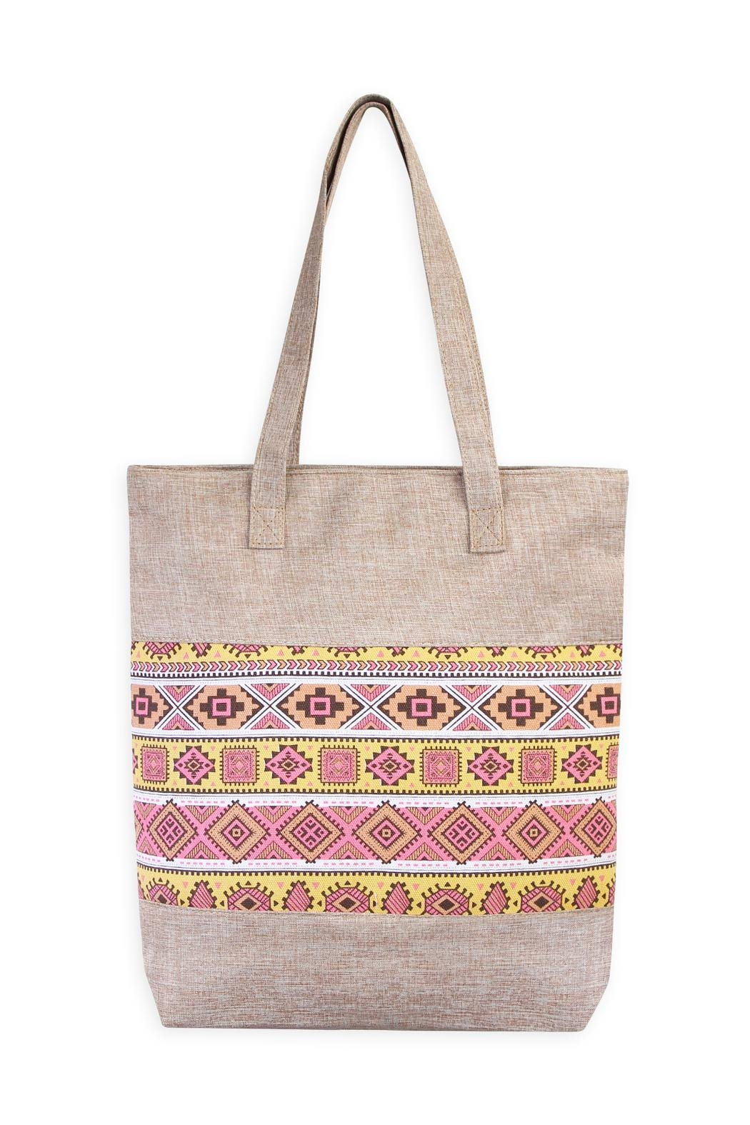 Riah Fashion Geometric Shape Tote - Front Cropped Image