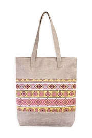 Riah Fashion Geometric Shape Tote - Front cropped