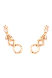 Riah Fashion Geometric Shapes Crawler-Earring - Product Mini Image