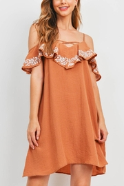 Riah Fashion Ginger Dress - Front cropped