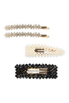 Shoptiques Product: Glass-Beads And Pearl-Hair-Pin-Set
