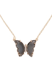 Riah Fashion Glass-Butterfly-Charm-Necklace - Product Mini Image