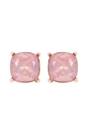 Riah Fashion Glass-Cushion-Post Earrings - Product Mini Image
