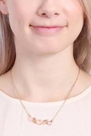 Riah Fashion Glass-Stone Dainty Necklace - Front full body