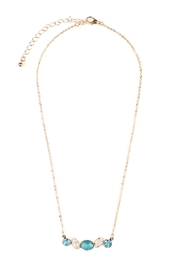Riah Fashion Glass-Stone Dainty Necklace - Product Mini Image
