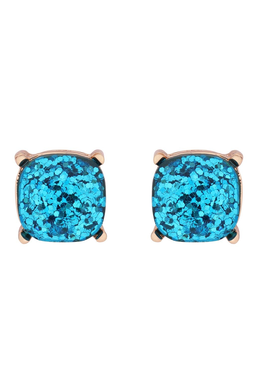 Riah Fashion Glitter Epoxy Stud Earrings - Front Cropped Image