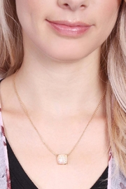 Riah Fashion Glitter Pendant Necklace - Side cropped
