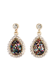 Riah Fashion Glitter Teardrop Earrings - Front cropped